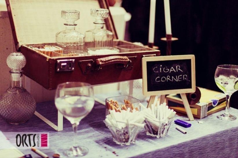 Pon un cigar corner en tu boda