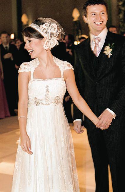 Vestido de noiva da Sandy