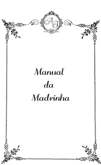 Manual do padrinho/madrinha
