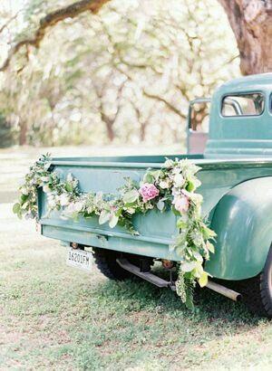 Decorao do carro dos noivos