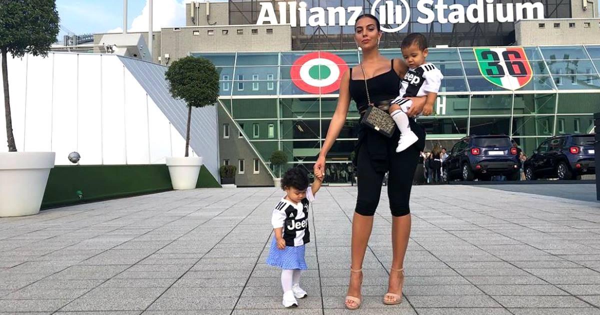 Georgina Rodrguez celebra los primeros goles de Cristiano