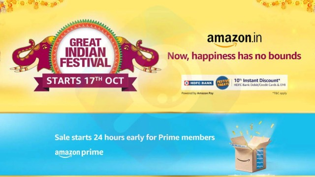 Amazon Great Indian Festival Sale 2020 Date Revealed with HDFC Bank offers,