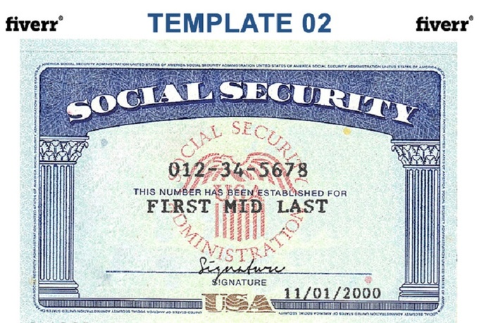 Mock Social Security Card Template