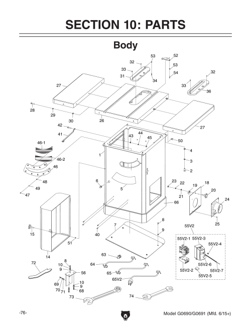small resolution of grizzly table saw wiring diagram