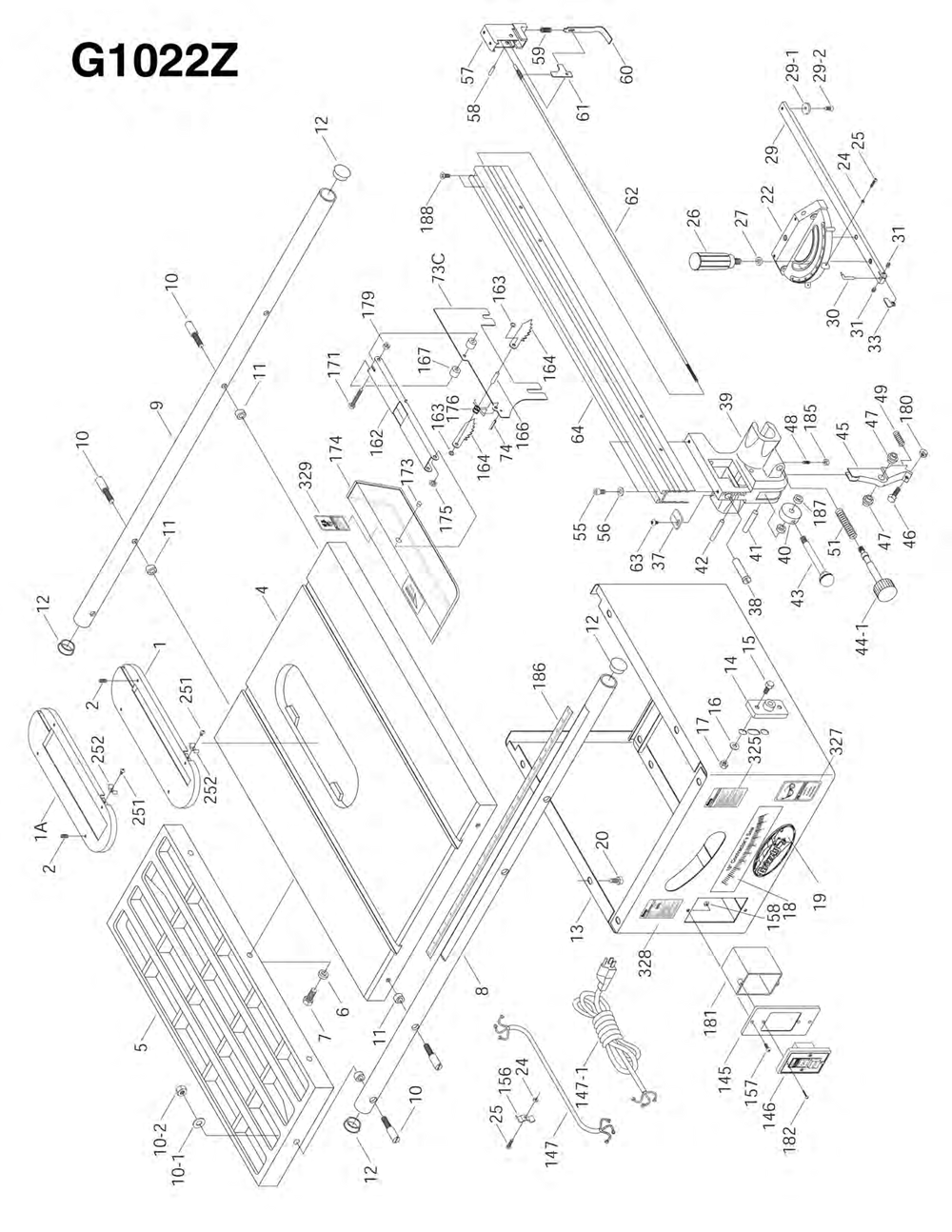 Grizzly Table Saw Wiring Diagram Led Wiring Harness