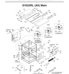 g1023rl 10 3 hp 240v cabinet left tilting table saw [ 1000 x 1294 Pixel ]