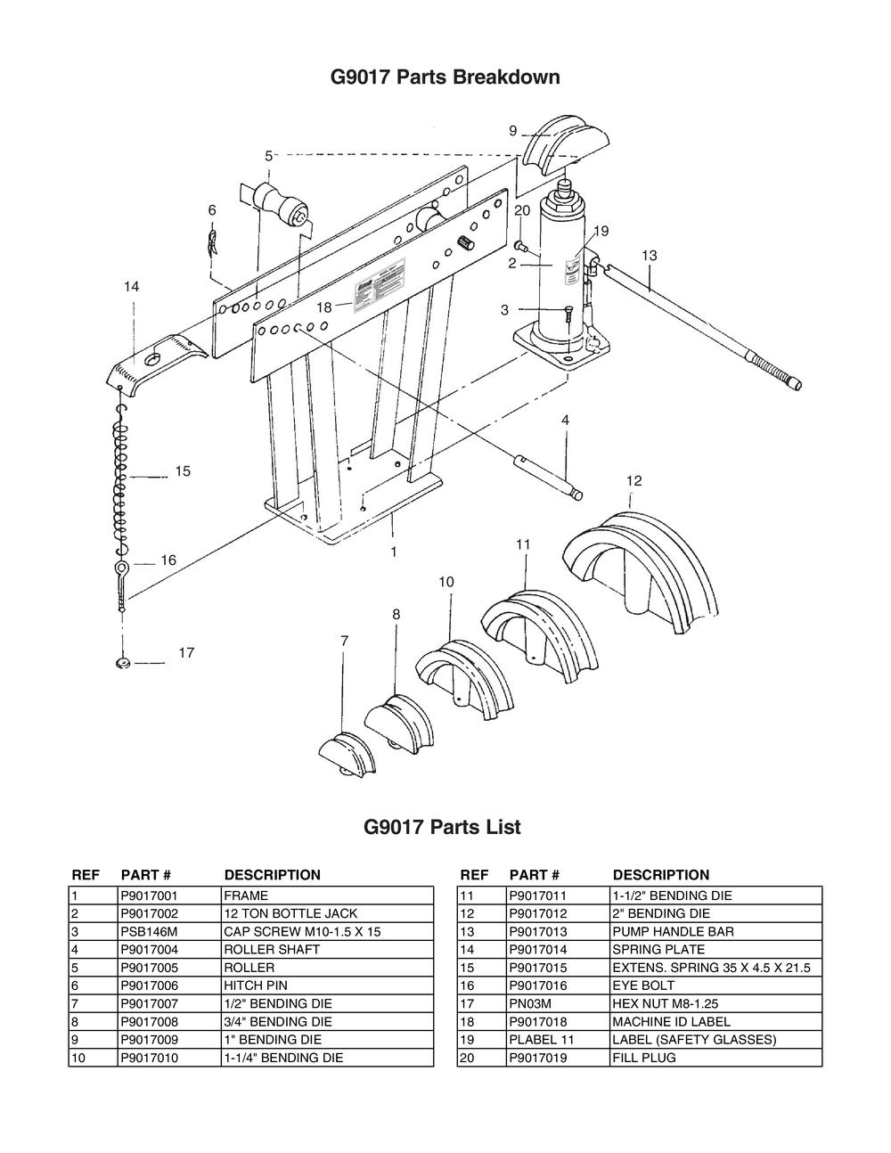 Hydraulic Floor Jack Rebuild Diagram