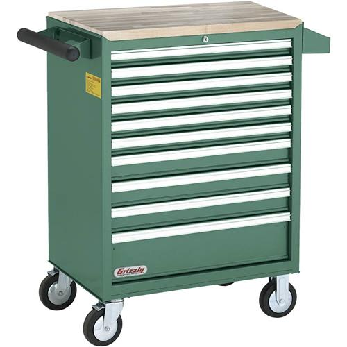 10 Drawer Rolling Tool Cabinet  Grizzly Industrial