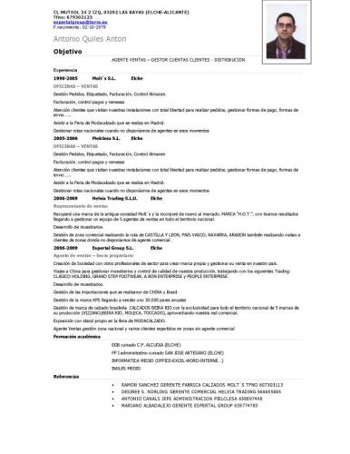 Curriculum Vitae Ejemplo Word Mexico Sample Resume Service