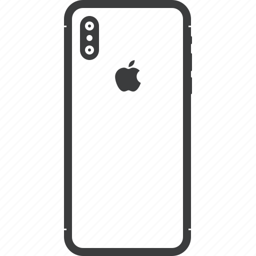 Apple, back, camera, iphone, iphonex, mobile, x icon