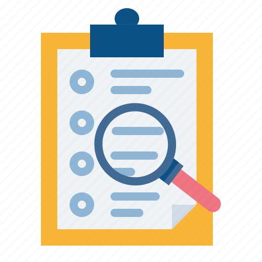 Candidate examine find resume search shortlist icon