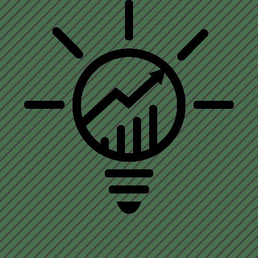 Analytics, business, marketing, solution icon
