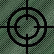 crosshair gun sight reticle