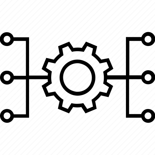Automate, automated system, hierarchy, management, system icon