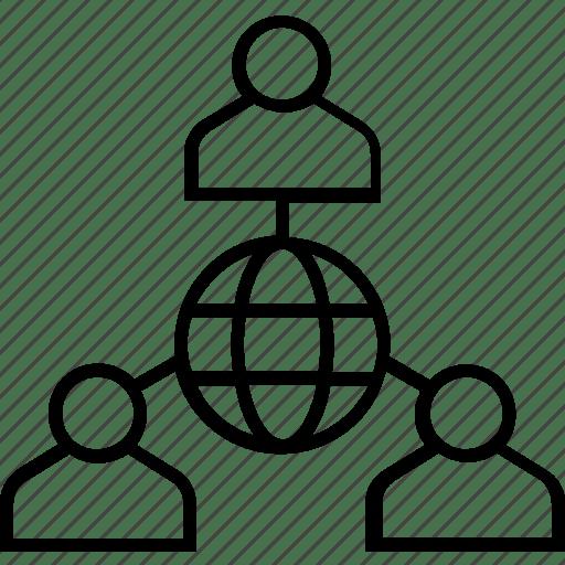 Business, global, global management, international, team icon