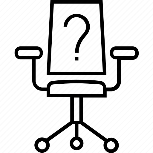 Chair, employment, hiring, probation, question mark