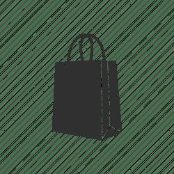shopping bag icon paper editor open