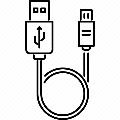 Cable, computer, micro, mini, technology, usb, wire icon
