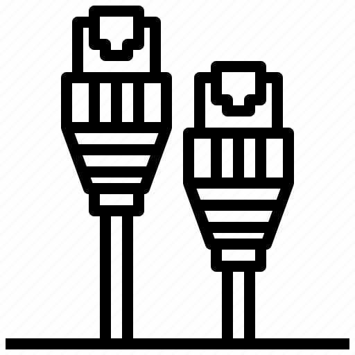 Cable, connection, connector, hardware, rj45 icon
