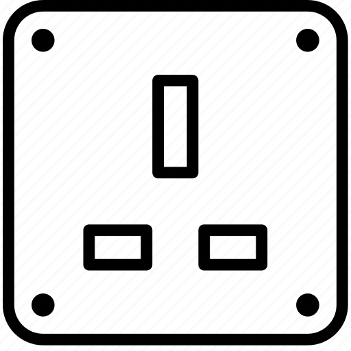 Cable, connector, plug, socket, uk icon