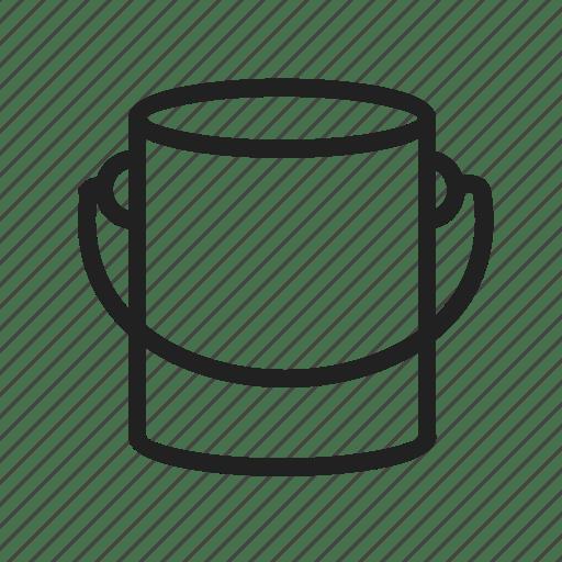 Bucket, design, house construction, interior, paint, paint
