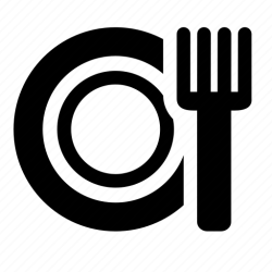 food plate icon dinner fork restaurant icons 512px