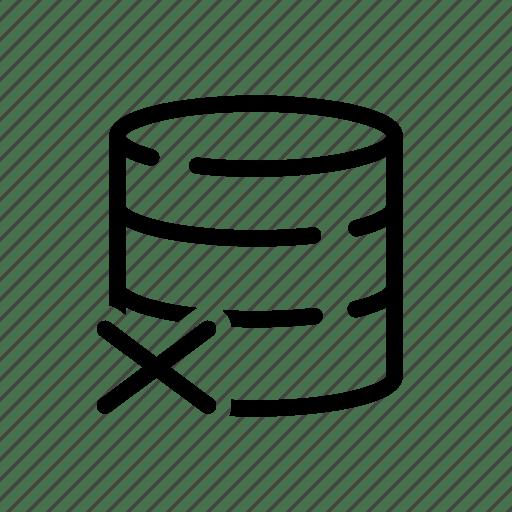 Database, database icons, delete, delete database, drop