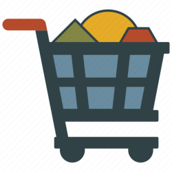 shopping cart basket icon editor open