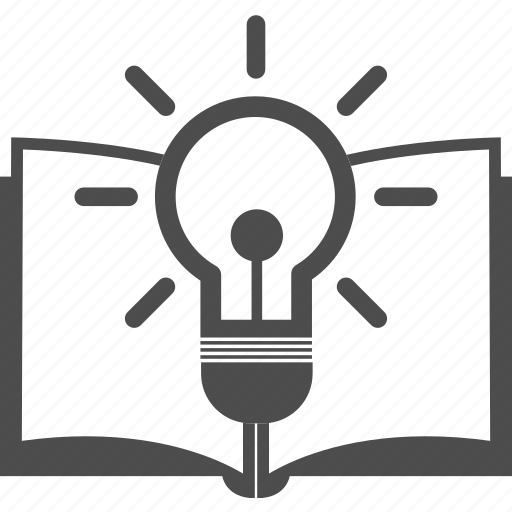 Book, document, extension, lamp, learning, student, study icon