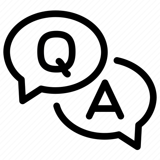 And, answer, letters, numbers, question, words icon