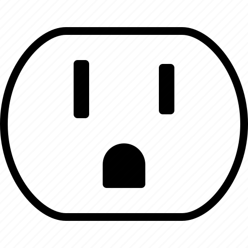 Ac, outlet, plug, power, socket, supply, wall icon