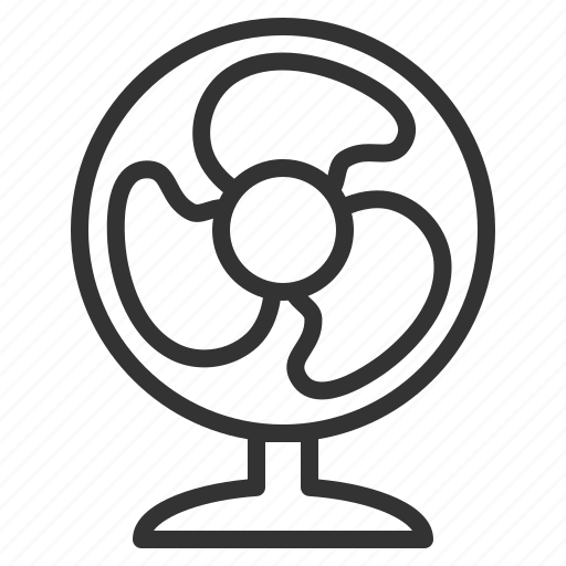Air, conditioner, cool, fan, houseware, propeller, wind icon
