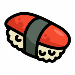 icon sushi food fast restaurant menu sea icons editor open