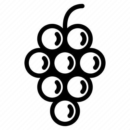 Fresh, fruit, grape, grapes, natural, organic, wine icon