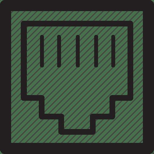 Connect, internet, lan, socket icon
