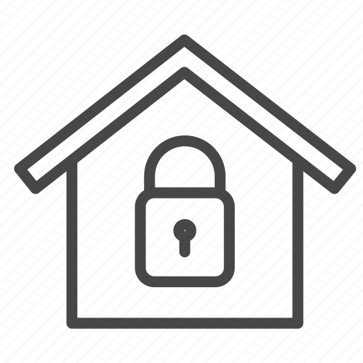 Home, lock, protection, safe, security, system icon
