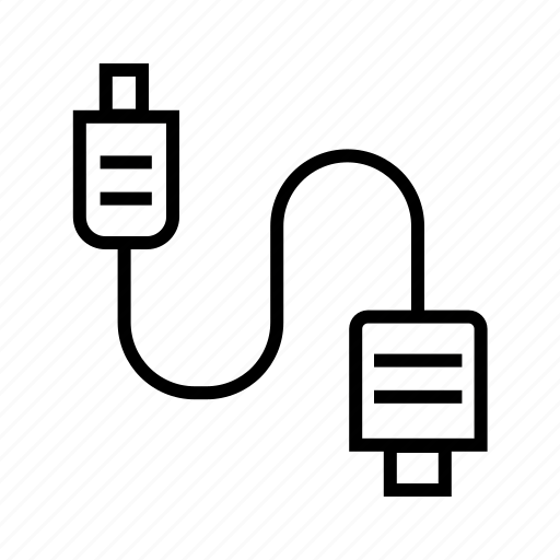 Adapter, connectivity, plug, plugin, usb, usb cable, wire icon