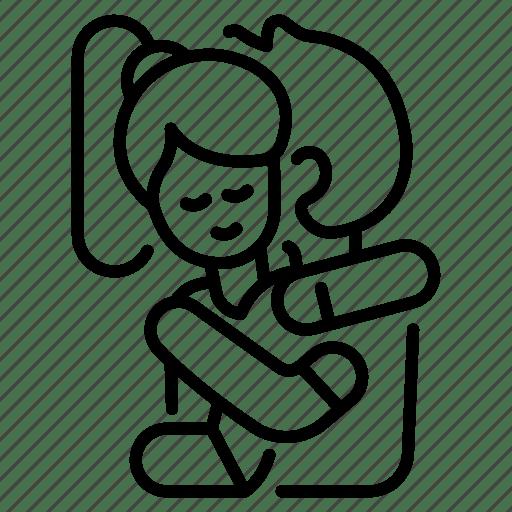 Female, happy, hug, love, male, relationship, valentine icon