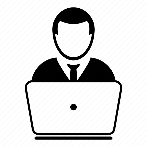 Admin, business, computer, laptop, network, profile, user icon