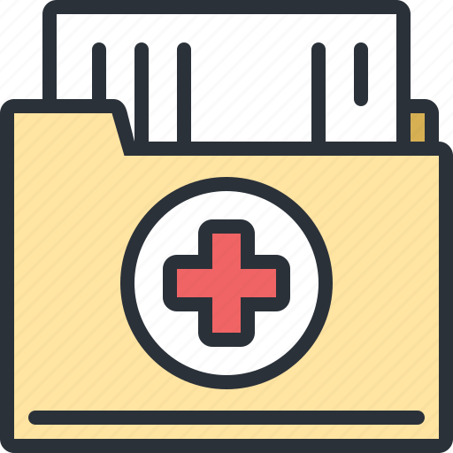 Documents file health hospital medical results icon