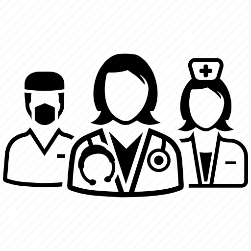 Doctor, healthcare, team icon