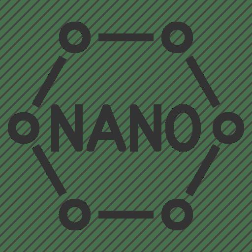 Nano, nanotechnology, technology icon