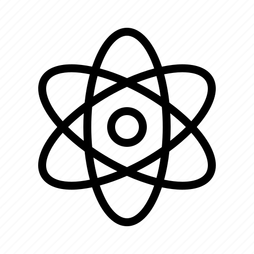 Atomic, atomizing, core, nuclear icon