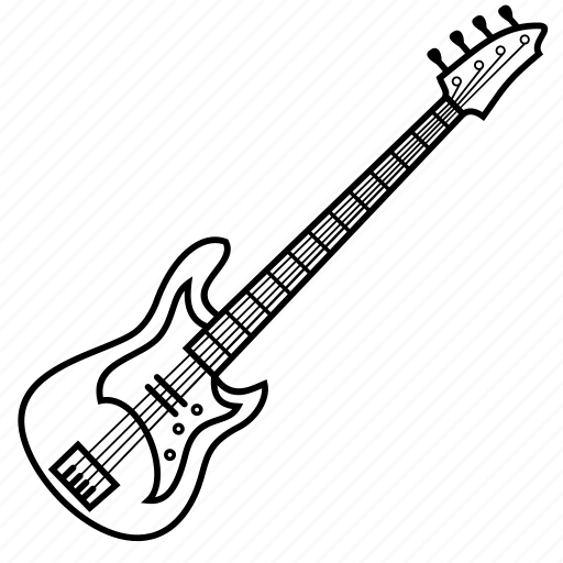Bass, electric, guitar, instrument, musical icon