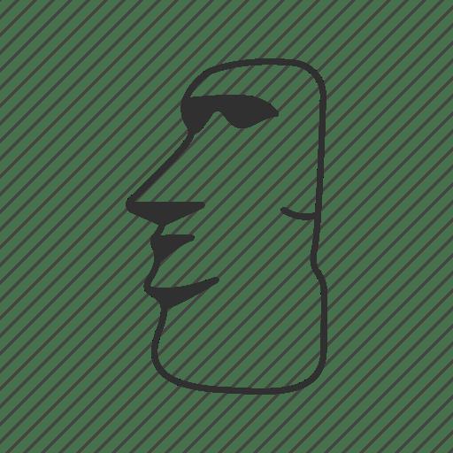 Easter island emoji giant giants head head human