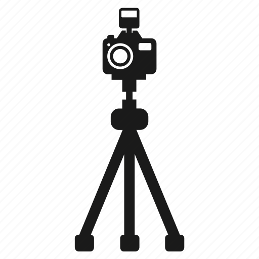 Camera, flash, photo, photography, reflex, tripod icon