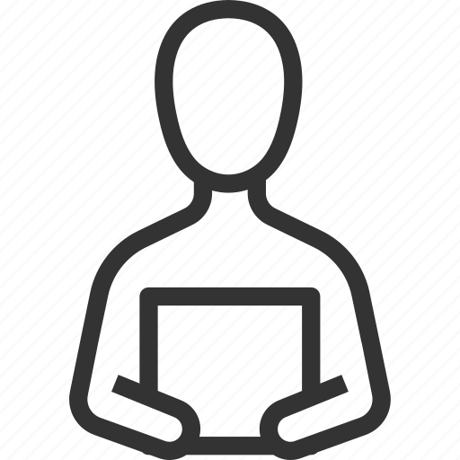 Instructor, planning, presentation, read, speaker, speech icon