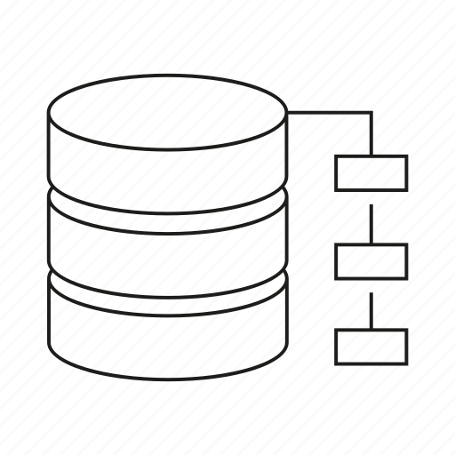 Database, diagram, hosting, network, server icon