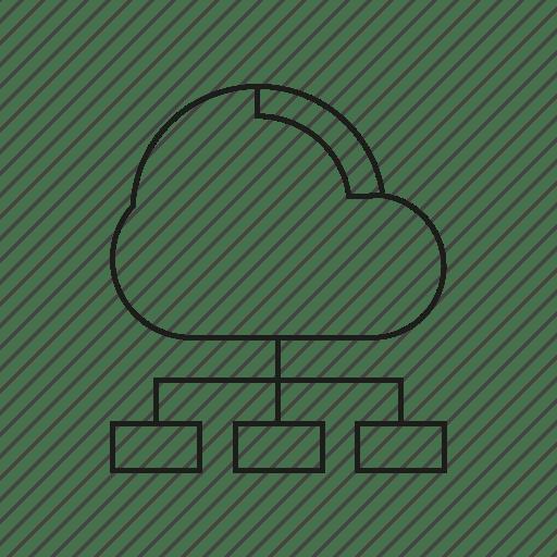 Cloud, cloud computing, diagram, internet, network icon