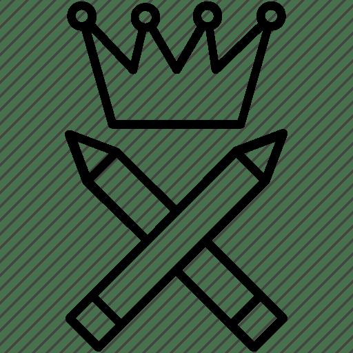 Ability. capability. crown. mastery. proficiency icon